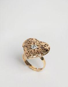 Heart locket ring (what a good idea!)