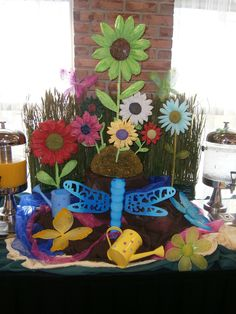 Spring has Sprung  Hand-made flowers   #Buffets #Decorations @ Nikki Williams