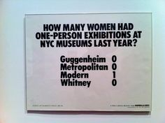 Poster at MOMA NYC by Guerilla Girls (referência visual)