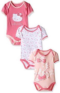Hello+Kitty+Baby+Girls'+Multi+Pack+Bodysuits+Under+$6