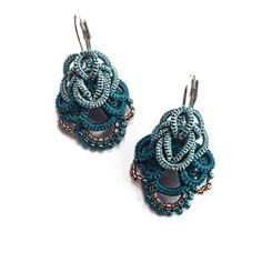 Lightweight lacy earrings. Perfect for spring! Just one inch long, they will be ideal for those who don't like big earrings.