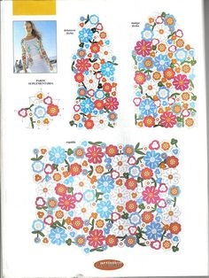 Delicadezas en crochet Gabriela: Chaqueta de flores con paso a paso