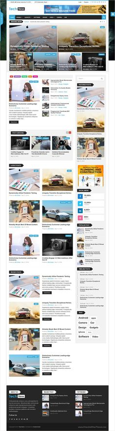 Top-News is a fast-loading and modern Theme for Wordpress Template, Web Design Inspiration, Design Ideas, Portal, Layout Download, Magazine Website, Web Layout, News Magazines, Ideas