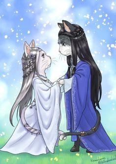 Котики Финвэ и Мириэль)) (Cat Finwë and Miriël)