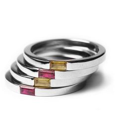 Colour stack rings - Bespoke Jewellery
