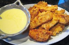Restaurant-Style Chicken Fingers and Sauce