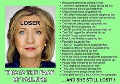 Not to mention the 3 million illegals who cast votes in the election......, just who do you think THEY voted for......maybe if THOSE votes were deducted from her count she wouldn't have won the popular vote either......