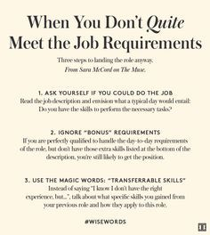how to land the job when you are this close to qualified - Resume Hints And Tips