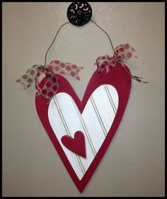 Valentines Wood 3 Heart Wall Or Door Hanger By Jwdecor On Etsy Valentine Wreath Valentines