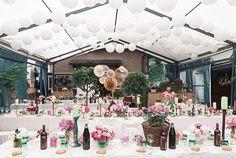 Bunte Vintage Hochzeitsdekoration rosa und mint von Sarah Bel Photography   Hochzeitsblog - The Little Wedding Corner