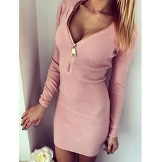 Sexy Long Sleeve Zip Bodycon Dress COMING SOON New - Retail!!!! Available in pink, khaki. In S and M sizes, please comment below to pre order if you're interested and in what color and size. The retail price is $30 Ask for a separate listing. Thank you! Also if you preorder in December month you will get 10% off! Dresses Mini