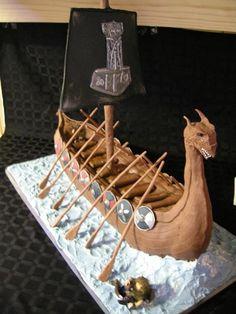 Viking cake- it'll make a cool party theme!