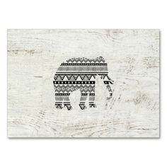 Aztec Tribal Elephant Black White Vintage Wood Business Cards. Make your own business card with this great design. All you need is to add your info to this template. Click the image to try it out!