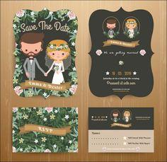 10 Super Adorable Cartoon Wedding Invitations For The Fun Loving