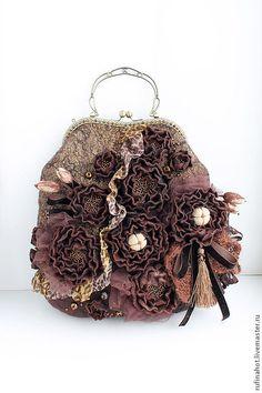 Купить Сумка валяная. Шоколадный вкус - женские сумки, сумки женские, сумка валяная