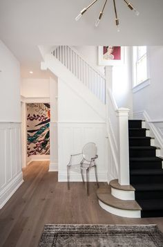 contemporary staircase by Shirley Meisels