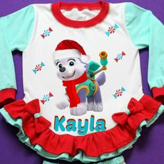 Paw Patrol Everest Personalized Girl Pajama Personalized with girl name