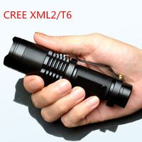 1200LM 5 Modes CREE XM-L2 or T6 high-quality Mini Black Waterproof LED Flashlight  Clip 18650 Zoomable lantern Pocket Size LED Torch penlight Adjustable Focus #FFRanTechStore