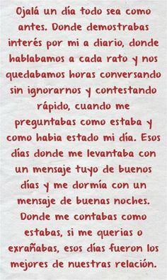 Sad Love Quotes, Romantic Quotes, Love Quotes For Boyfriend, True Quotes, Spanish Inspirational Quotes, Spanish Quotes, Good Morning In Spanish, Amor Quotes, Love Phrases