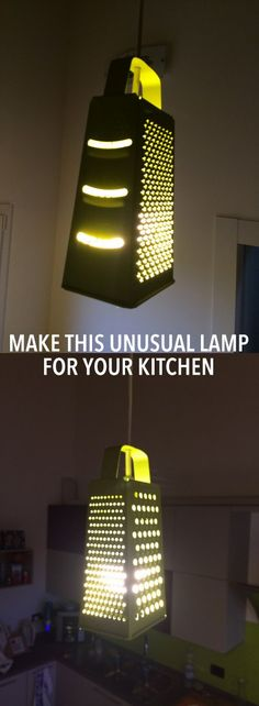 Make this unusual lamp for your kitchen http://www.ikeahackers.net/2017/04/make-unusual-lamp-kitchen.html