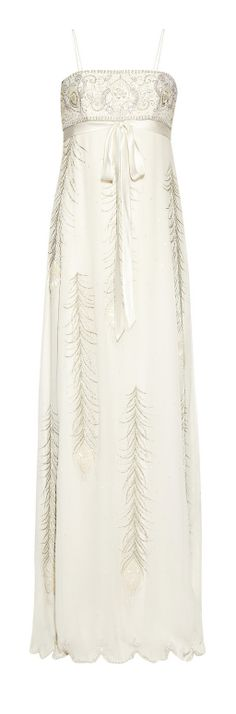Beaded feathers gown. Beautiful omg