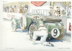 4. Tim Birkin and his Blower Bentley 4.5 litre - Classic Cars Art