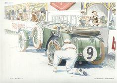 4. Tim Birkin and his Blower Bentley 4.5 litre - Classic Cars Art
