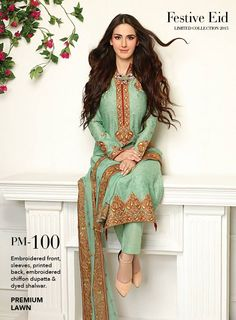 Gul Ahmed Embroidered Chiffon Dresses http://clothingpk.blogspot.com/2015/06/gul-ahmed-embroidered-chiffon-dresses-eid-2015.html