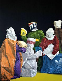 Eckart Hahn - Anbetung der Könige (Adoration of the Kings) [acrylic on canvas, Saatchi Gallery, Trash Art, Trends Magazine, Art And Illustration, Contemporary Paintings, Installation Art, Art Direction, Amazing Art, Modern Art