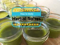 How to Make Herbal Salves: a simple way to use herbs from the garden or any dried herbs to make your own healing salve. Use calendula, lemon balm, and comfrey.