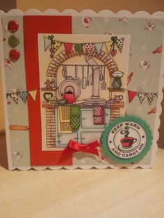 Aga card with little claires stamp