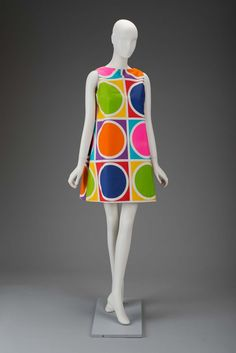 Own it, go-go danced in public in it. Mine has a zipper up the front. Mid 1960s, America - Cotton dress
