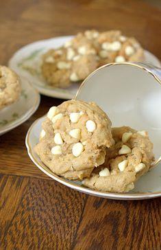 Coconut Cream Cheese White Chocolate Chip Cookies