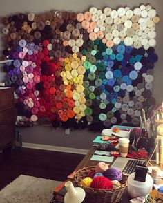 Can you say Yarn Goals? Take a look at this clever, gorgeous solution to organizing and displaying your huge yarn collection!