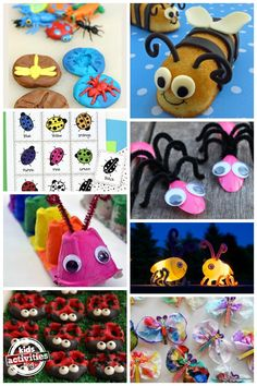 Adorable bug crafts, activities and food ideas for kids. So fun!