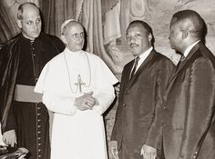 In Picture : Rev Martin Luther King Jr received by Pope Paul VI at the Vatican 1964