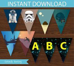 Star Wars Banner DIY Printable   INSTANT by CreativeLittleStars
