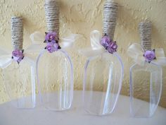 Rustic Candy Scoops / Lavender  Candy Buffet  by JumbledBrains, $30.00