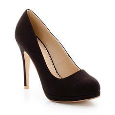 Sapatos de tacão alto, pelica