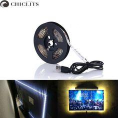 RGB Led Strip Lights DC 5V TV Backlight USB Led Flexible Strip 50CM 1M 2M 3M 4M 5M SMD3528 Tira Led Tape Bande Lighting for Home