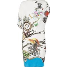 Roberto Cavalli Printed stretch-jersey dress ($950) ❤ liked on Polyvore
