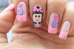 Diseño de uñas muñeca Beauty Spa, Hair Beauty, Cute Nail Designs, Nail Artist, Cute Nails, Manicure, Nail Polish, Thalia, Cami