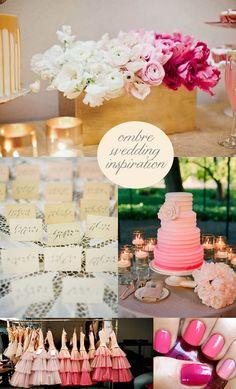 Ombre Wedding Inspiration {Wedding Wednesday}