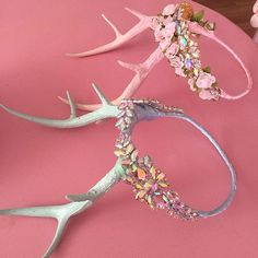 Packing up orders today. Still a few crystal antler crowns left… Outfits Hippie, Hippy Chic, Fantasy Costumes, Circlet, Cosplay, Flower Crown, Fairy Crown, Diy Costumes, Antlers