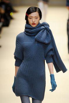 Cacharel Fall/Winter 2012 RTW. Model: Tian Yi.