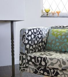 Marimekko Slipcovers for Ikea Furniture Via Bemz Furniture Slipcovers, Ikea Furniture, Marimekko, Scandinavian Style, Decoration, House Colors, Love Seat, Armchair, Wall Decor