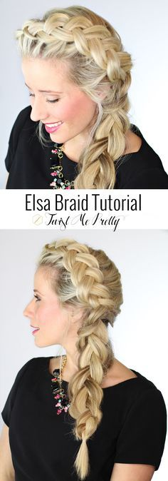 "Dutch side braid-->her tutorials are super easy. This has a great section on how to ""pancake"" braids"