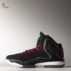 best service a9c11 89abe Adidas performance Derrick Rose 5 Boost Chaussures de Basketball Noir Rouge  pour homme torsion System,