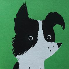 Border Collie cuteness in a hand screen printed card.