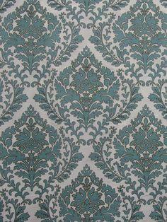 HFPT 20 POLY VANILLA/AQUA #blue-turquoise #faux-silk #print-fabrics #suzani